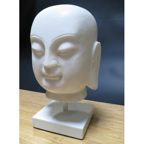 Tete de bouddha en pierre ciel pierre monument statue for Tete bouddha pour jardin