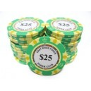 25 Jetons de poker MC EAST GOLD 25