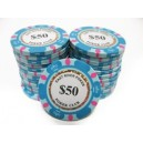 25 Jetons de poker MC EAST GOLD 50