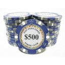 25 Jetons de poker MC EAST GOLD 500