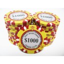 25 Jetons de poker MC EAST GOLD 1000
