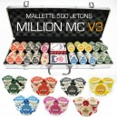 Mallette de 500 jeton de poker MILLION V3