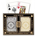 Cartes a jouer KEM Black and Gold, Wide, Jumbo