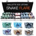 Mallette de 500 jeton de poker SNAKE FLARE