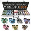 Mallette 500 jetons de poker VEGAS HIGH Laser 14g