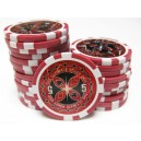 25 jetons de poker ULTIMATE ROUGE 5