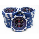 25 jetons de poker ULTIMATE BLEU 10