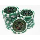 25 jetons de poker ultimate vert 25