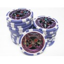 25 jetons de poker ultimate violet 500